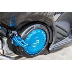 Couvercle de carter d'engrenage LIGHTECH alu cobalt Yamaha T-Max 500/530