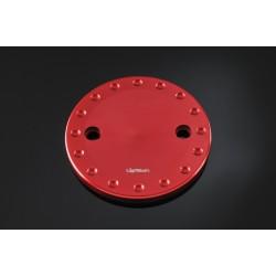 Couvercle de carter d'engrenage LIGHTECH alu rouge Yamaha T-Max 500/530