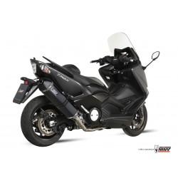 Ligne complète MIVV Speed Edge acier noir/casquette carbone Yamaha T-MAX 530
