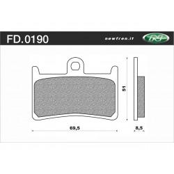 Plaquette de frein NEWFREN FD0190 SE métal fritté Yamaha T-Max 500/530